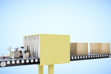 Packaging service and parcel transportation system concept