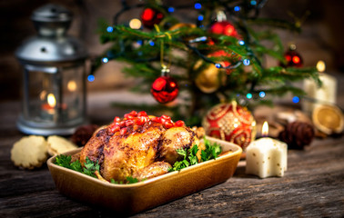 Roasted chicken for Christmas lunch