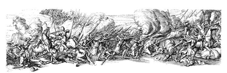 XVII century, Thirty Years War  battle