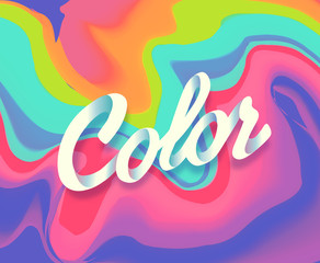 Colorful abstract liquid ink. Modern style trends. Background fo