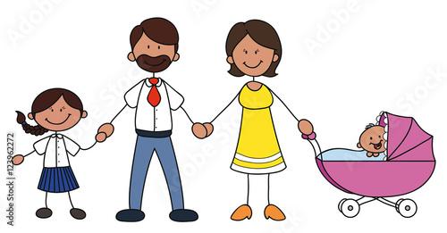 familie mit zwei kindern stockfotos und lizenzfreie. Black Bedroom Furniture Sets. Home Design Ideas
