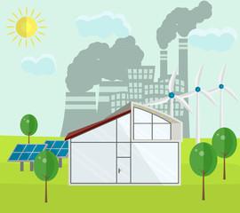 Renewable green energy sources concept