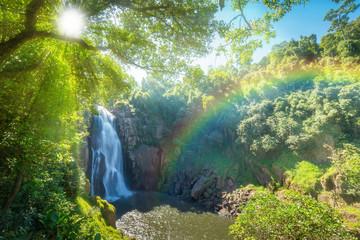 Hew Narok beautiful waterfall in Khao Yai national park of Thailand