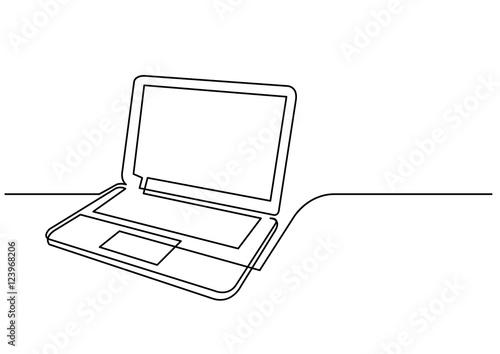 Line Art Laptop : Quot continuous line drawing of laptop computer stock image