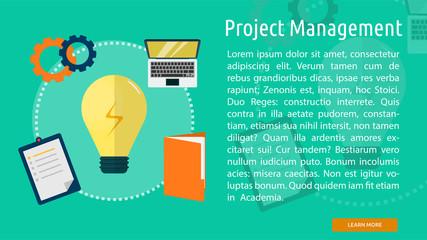 Project Management Conceptual Banner