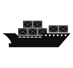 cargo ship delivery service vector illustration design