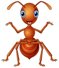 Happy ant  cartoon standing