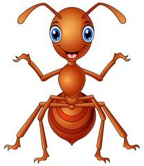 Happy ant  cartoon standing