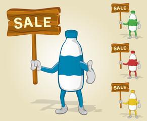 Milk Bottle Sale Thumb Up