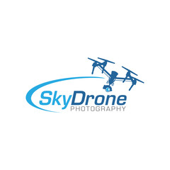 drone logo icon vector template