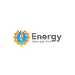 energy gas concept logo icon vector template