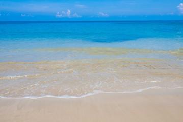 sea beach blue sky sand sun daylight