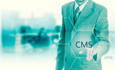 The concept of cms content management system website administration