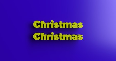 Christmas Christmas - 3D rendered colorful headline illustration.  Can be used for an online banner ad or a print postcard.