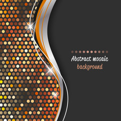 Mosaic abstract shiny vector background.