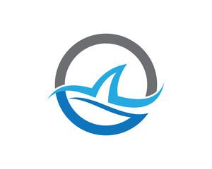 sharks logo template