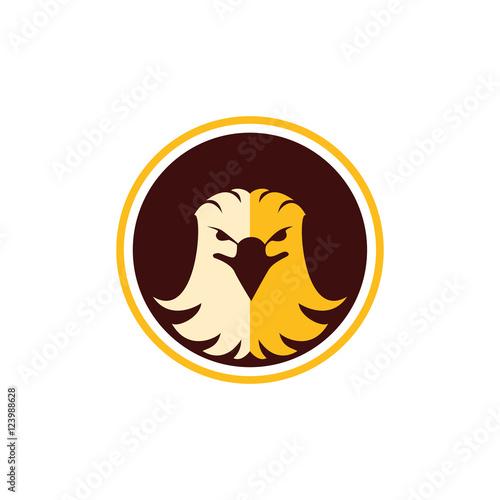 quotgolden circle eagle falcon head logo symbol template