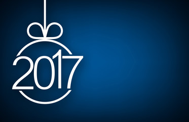 2017 New Year blue background. Fotomurales