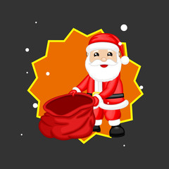 Santa Claus Showing Empty Gift Bag