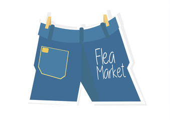 Blue Jeans Flea Market Vector