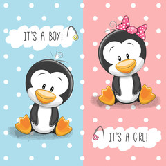 Penguins boy and girl