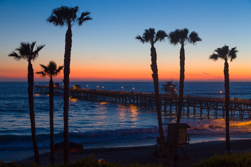 Dramatic Ocean Sunset at San Clemente Pier