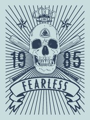 Skull vector print