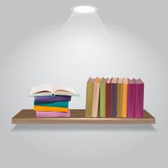 Vector illustration of bookshelves