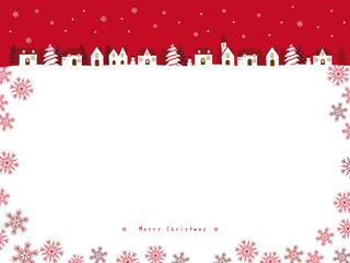 クリスマスの街並み 背景イラスト Adobe Stock でこのストックベクター