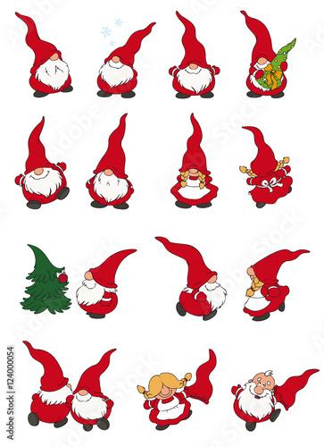 Vektor illustration von mehreren s en wichteln stockfotos und lizenzfreie vektoren auf - Clipart weihnachtswichtel ...