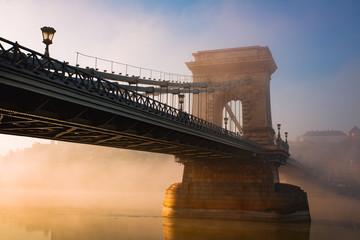 Printed kitchen splashbacks Budapest Budapest chain bridge