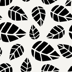 Wall Mural - Seamless Leaves Pattern