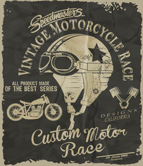 vector race poster
