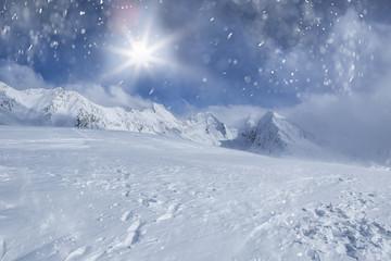Skilandschaft Schnee