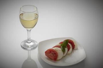 白ワイン カプレーゼ