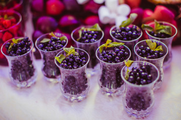 Mint beautifies shots with blueberry