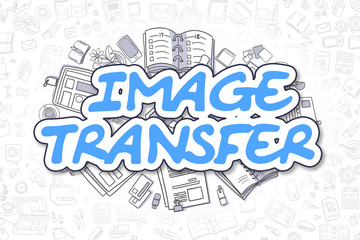 Image Transfer - Doodle Blue Inscription. Business Concept.