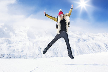 Jump for snow