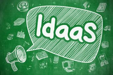 IdaaS - Hand Drawn Illustration on Green Chalkboard.