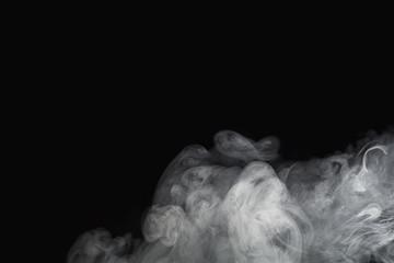 Smoke on a black background.