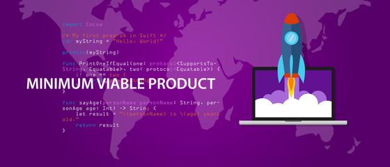 minimum viable product MVP start-up rocket launch programming code syntax