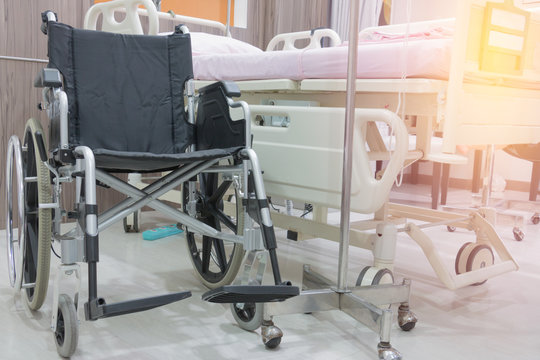 wheelchair  in hospital