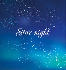 decorative star night background. vector illustration of bright