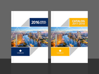 Corporate Design Annual Report Or Catalog Magazine Flyer Booklet