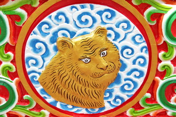 Tiger is chinese zodiac animal sign.This Picture is Public.