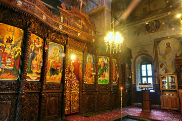 The iconostasis of the church in Klisurski monastery, Bulgaria