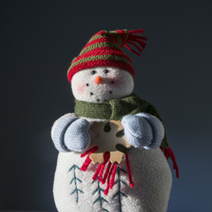 Vintage Plush Snowman