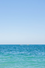 View of black sea in summer in clear weather