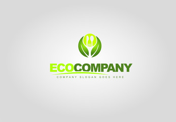 Natural organic food logo