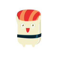 Happy Funny Maki Sushi Character